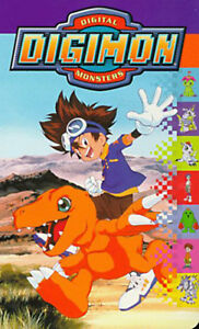 VHS Digimon Digital Monsters ~ Michael Sorich, Jeff Nimoy