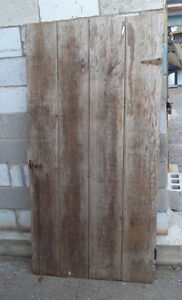 #greenspotantiques old barn door and large pine bookcase (was an