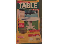 "TABLE COVER 50"" x 28"" by BOSMERE 4 SEATER CIRCULAR ROUND"