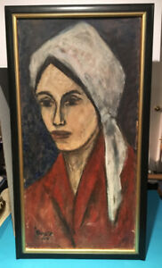 Signed Painting - Girl with Turban