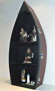 OLD SALTS Collectible Nautical Ornaments with Boat Display Case