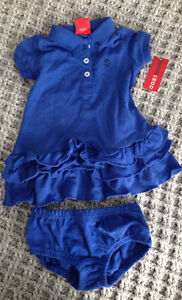 12 month girls Izod outfit