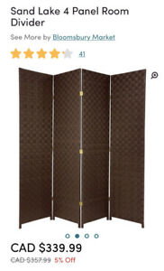 Need privacy in your dorm? 4 panel room divider