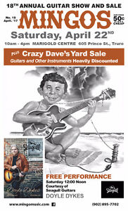 Mingo Music's 18th Annual Guitar Show & Sale, w/ Doyle Dykes!