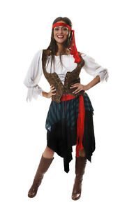 FANCY-DRESS-LADIES-PIRATE-CARRIBEAN-FITS-10-18-GREAT-VALUE