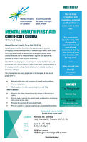 Mental Health First Aid - Certificate Course