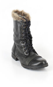 STEVE MADDEN Faux Fur Lined Winter Combat Boots