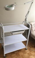 White 3 shelf trolley