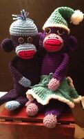 Crochet Sock Monkeys