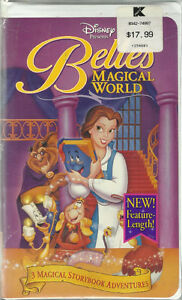 new Beauty and the Beast: Belles Magical World (VHS, 1998) NEW o