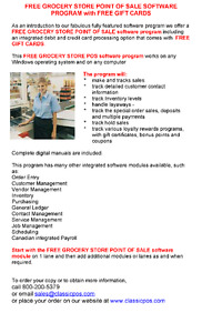 TRACK SALES, CUSTOMERS & INVENTORY with FREE GROCERY SOFTWARE!