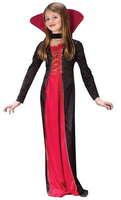 Vampire Costume Dress Girls Victorian Vampiress - S 4-6, M 8-10, L 12-14 - Fast