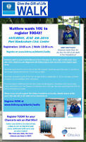 Give the Gift of Life Walk- Port Hawkesbury