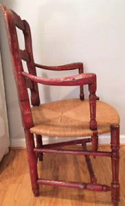Country french ladderback armchair