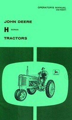 John Deere H Series Operators Instruction Manual Jd