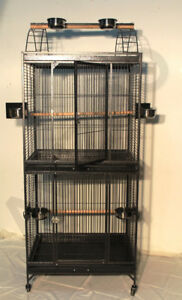 "CAGE PERROQUET DOUBLE 30"" X 24"" X 73"" H VENTE 399.99$"