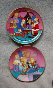 Franklin Mint Simpsons Collector Plates