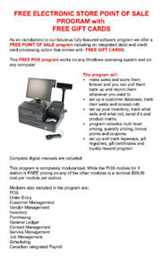 TRACK SALES, CUSTOMERS &  INVENTORw/  FREE RETAIL POS SOFTWARE!