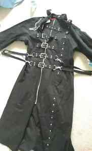 Men's Long Black Trench Gothic Rave Cyber Coat London Ontario image 6