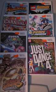 Various Wii games for sale