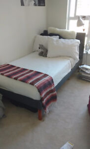 Twin bed and mattress like new