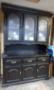 Hutch....dark brown...great condition...lots of room for storage