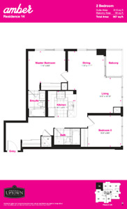 Amber Condos Assignment - 2 Bedroom 2 Bathroom - Move In July 20
