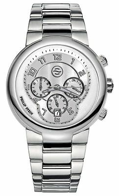 New Philip Stein Active 45Mm Chronograph Mens Watch 32 Aw Ss