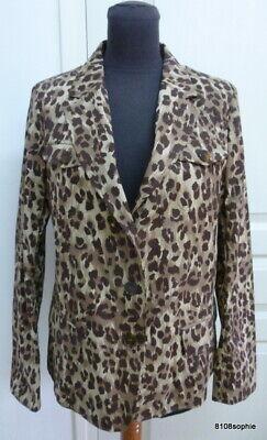 Beige Panther (Gerard DAREL veste 44 coton beige brun leopard panthère plutôt 40)