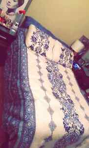 3/4 mattress, box spring and frame !! Need gone asap!