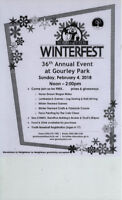 GOURLEY PARK, WINTERFEST in the Park - Sunday Feb 5th,  Noon-2pm