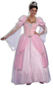 FAIRY-TALE-PRINCESS-PINK-GOWN-CINDERELLA-ADULT-COSTUME-ONE-SIZE-FANCY-DRESS