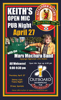 Open Mic @ The Outboard Waterfront Pub  Thursday, April 27