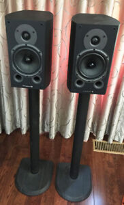 wharfedale diamond 9.1 with 29 inch speaker stands