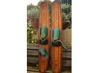 Vintage trick water skis