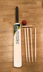Cricket bat and stumps set adult size bat new
