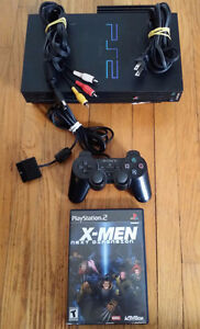 Sony PS2 Fat Playstation System with Controller and XMEN game