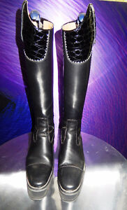 Women's DeNiro Black Leather Dressage Boots