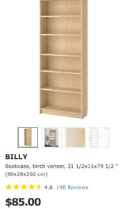 2 bookcases IKEA  BILLY