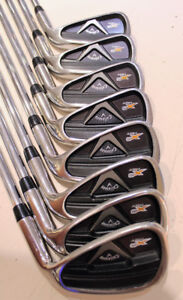 CALLAWAY X2 HOT 4-A, PW IRONS (left hand)