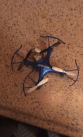 Drone helicopter blue
