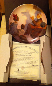 Norman Rockwell collector plates Knowles w/box and certificate