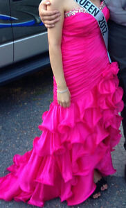 Hot Pink Prom Gown