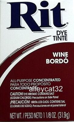 Rit Fabric Dye Powder - WINE - 1 1/8 oz Tie Dyeing Fabrics Basketry
