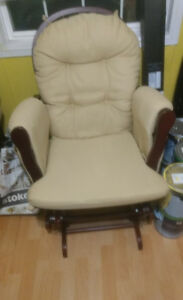 AMHERST NS: Glider Rocker with Pockets and Footstool - Needs TLC