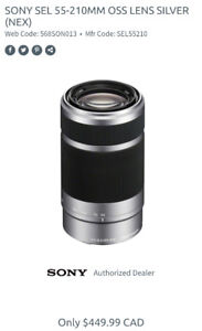 [Brand New in a box] SONY SEL 55-210MM OSS LENS SILVER (E mount)