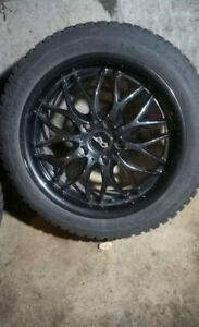 """17"""" Dai Alloy Passions - (Black Magic) with winter tires"""