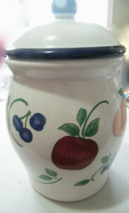 UNIQUE 'ORCHARD MEDLEY' FOOD CANISTER with TOP SEAL-GREAT LOOK!