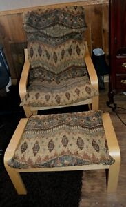 Ikea poang chair & stool  REDUCED