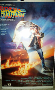 1985 Original Print Back to the Future Promo poster